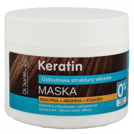 Реструктурираща маска за коса с кератин, 300 мл