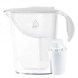 Кана за пречистване на вода Dafi Atria Classic, с филтър Classic и механичен брояч, бяла, 1,2 л